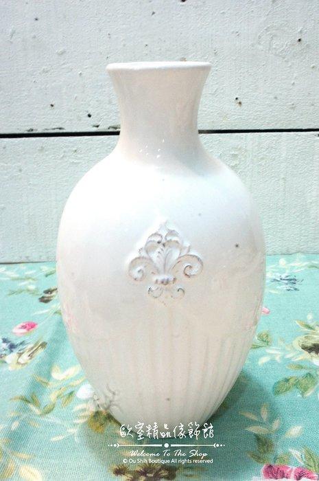 ~*歐室精品傢飾館*~Zakka 鄉村雜貨 陶瓷 法式 圖騰 花器 花瓶 乾燥花 擺飾 多肉植物 批發 園藝~新款上市~