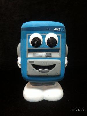ANZ 澳盛銀行 - 提款機 玩偶 公仔 - 16公分高 - 紀念存錢筒 - 301元起標      A-5箱