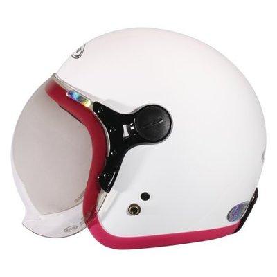 【小齊安全帽】潮流復古 / 內襯全可拆洗 / 泡泡鏡片 時尚復古帽 瑞獅 ZEUS 382C 白紫紅 半罩帽 安全帽