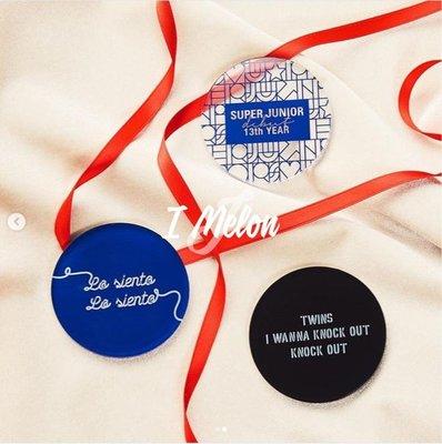 ::: i-MelOn ::: 100%韓國空運 正韓【現貨】SUPER JUNIOR SJ 13週年紀念週邊壓克力杯墊※黑/藍色