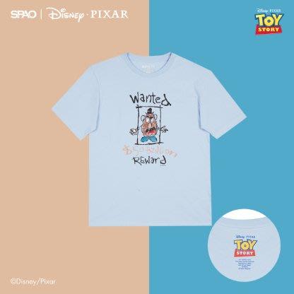 【Luxury】韓國代購 SPAO x 玩具總動員 胡迪 巴斯光年 迪士尼 皮克斯 純棉T恤 男女 情侶款 正品