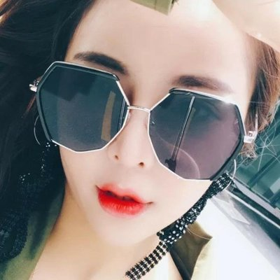 2018新款同款防紫外線太陽鏡街拍個性大臉顯瘦墨鏡女士潮 HH2521