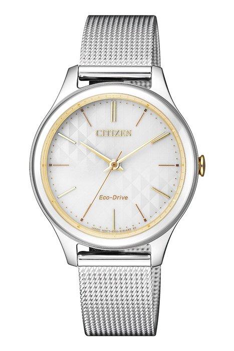 【刷卡分期零利率】CITIZEN光動能時尚女錶EM0504-81A 5氣壓防水 32.0mm 台灣星辰公司保固兩年