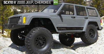 有影片 AX90047 SCX10 II 2000 Jeep Cherokee 1/10 4WD RTR 攀岩車 NCC