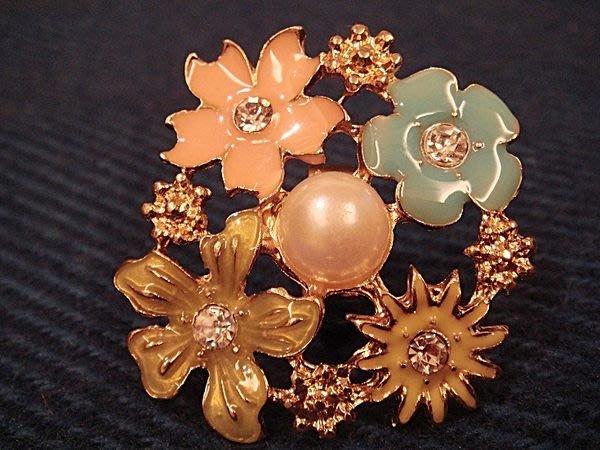 全新從未戴過,歐美品牌高質感粉彩花朵造型戒指,低價起標無底價!本商品免運費!