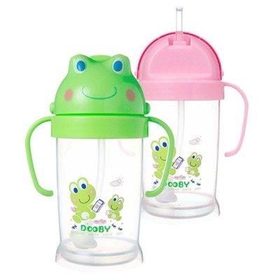 DOOBY大眼蛙-卡通神奇喝水杯(綠色/粉色)250cc(DB-4131)