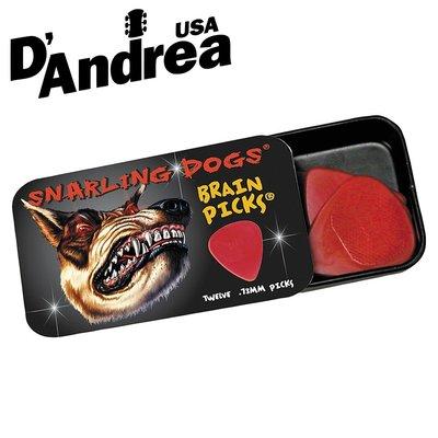【小叮噹的店】全新 美國 D'Andrea Snarling Dogs 彈片組 錫盒裝 12片入 SDBTD351 瘋狗