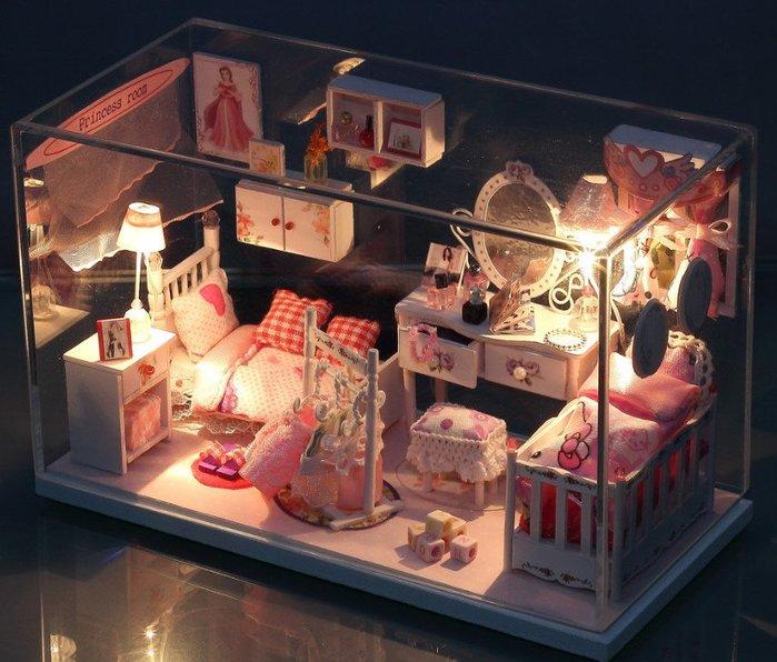 手巧家 DIY袖珍屋_夢幻公主房 娃娃手做玩具迷你手工動手做模型創意禮物節慶女友情人節生日禮物浪漫小物