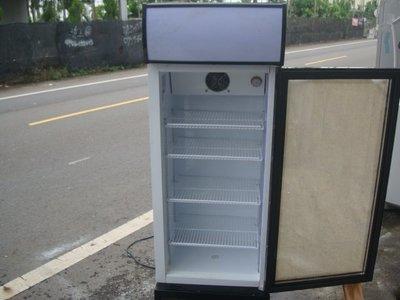 高雄屏東萬丹電器醫生 中古二手玻璃 單門展示櫃冰箱
