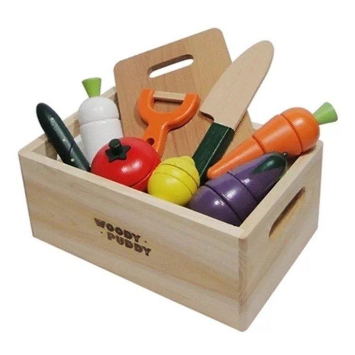 💗荳荳小舖💗聖誕節 交換禮物 木製水果仿真彩色立式扮家家酒組~超可愛盒裝組~仿真家家酒玩具 切切