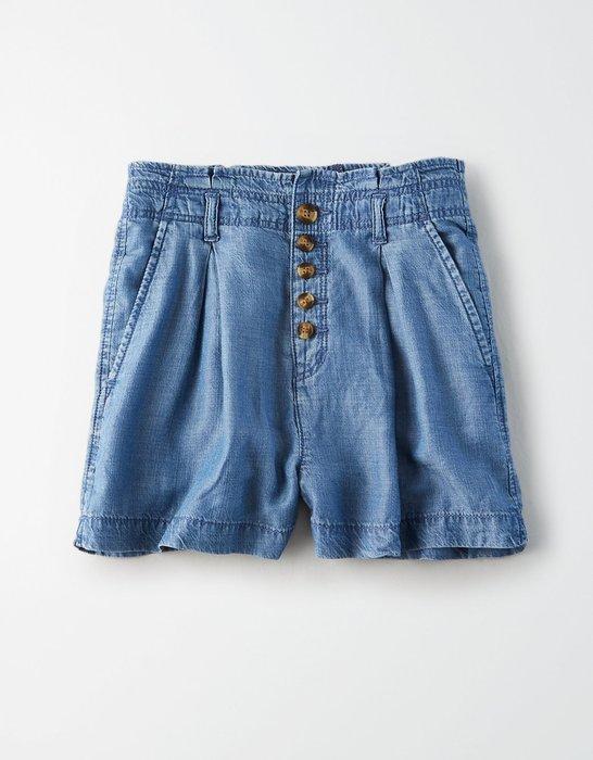 【BJ.GO】美國 AE HIGH-WAISTED SHORT 天絲高腰短褲