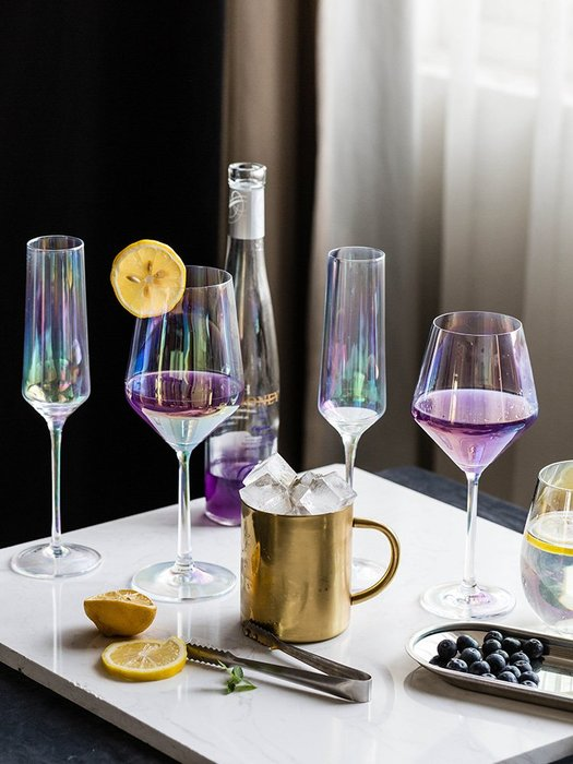 SX千貨鋪-歐式水晶玻璃紅酒杯鐳射高腳杯家用無鉛香檳杯葡萄酒杯#玻璃杯#酒杯#水杯#茶杯#杯子套裝