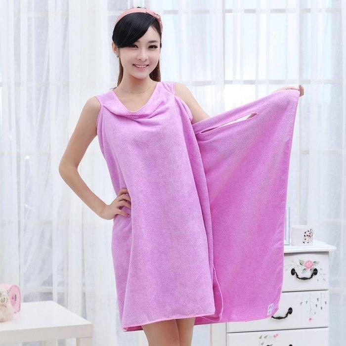 浴巾超細纖維情侶浴袍可穿浴巾柔軟吸水毛巾  ys1906
