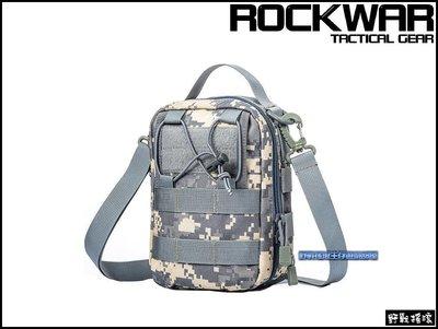 【野戰搖滾-生存遊戲】ROCKWAR 側背式戰術醫療包【ACU迷彩】側背包急救包雜物包單肩包勤務包數位迷彩腰包 新北市