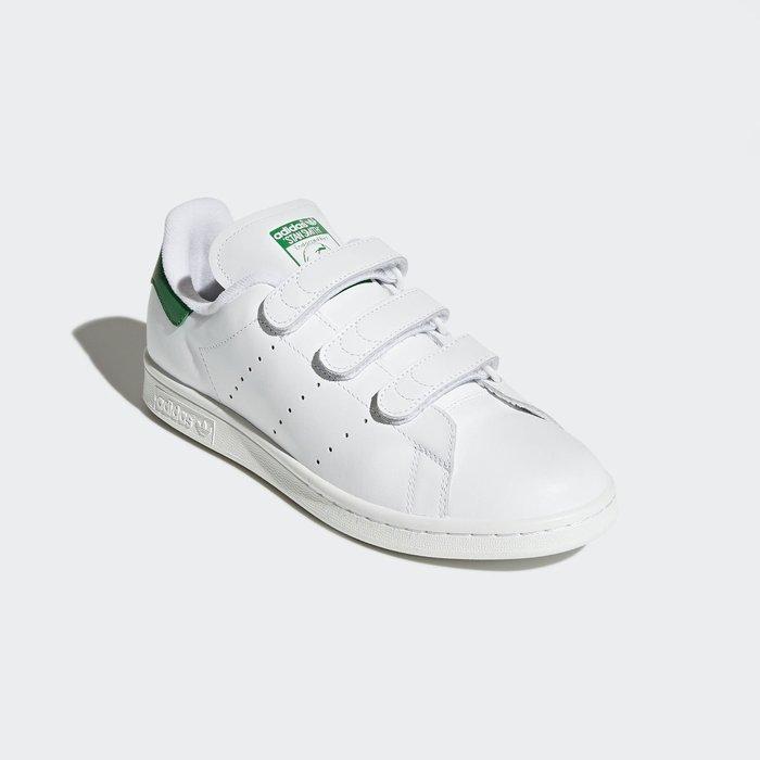 adidas Originals Stan Smith S75187 史密斯 魔鬼氈 白綠 US10 保證真品(免運)
