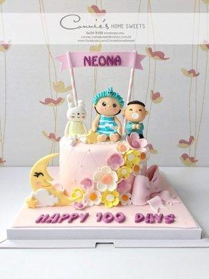 【Connie's Home Sweets】BB女蛋糕 生日蛋糕 滿月蛋糕 百日宴蛋糕 100 days cake birthday cake full moon