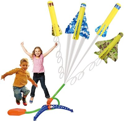【竭力萊姆】預購 美國原裝 Stomp Rocket 彈跳特技飛機 戶外玩具 跳躍玩具 感覺統合 派對玩具