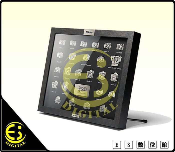 ES數位 Nikon 100 週年 徽章套組 限量版 勳章 胸章 獎章 黃銅材質 手工雕刻 金屬框 收藏
