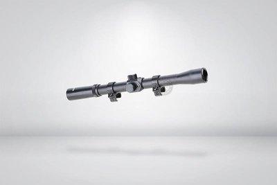 台南 武星級 4X20 瞄準鏡 ( 狙擊鏡 倍鏡 4倍鏡 內紅點 快瞄 狙擊手 綠點 紅外線 激光 定標器 紅雷射