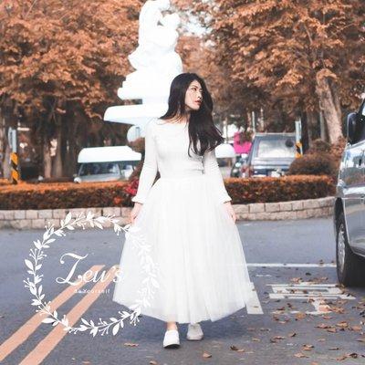 【ZEU'S】春裝甜美高腰顯瘦百摺紗裙『 01119901 』【現+預】A