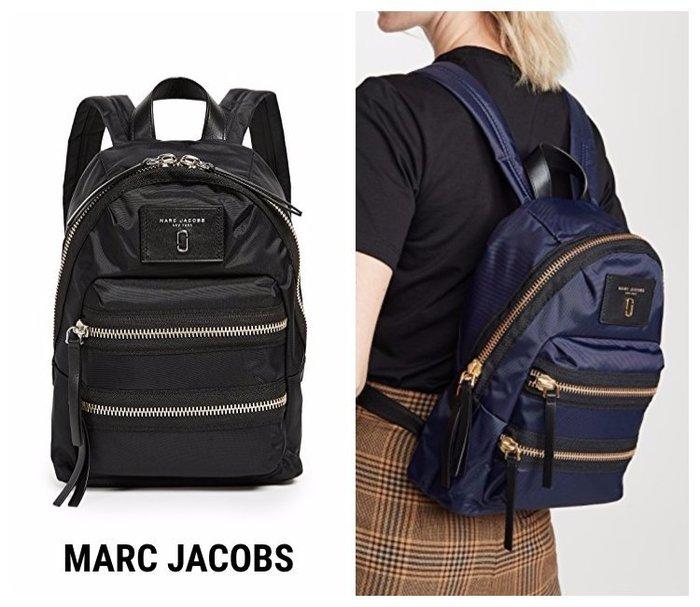 美國 Marc Jacobs Mini Nylon Biker Backpack  黑金迷你尼龍機車背包/後背包