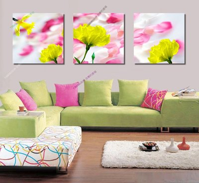 【30*30cm】【厚1.2cm】黃花-無框畫裝飾畫版畫客廳簡約家居餐廳臥室牆壁【280101_055】(1套價格)