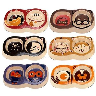 可愛寵物貓碗狗碗狗盆狗狗食盆貓糧飯盆泰迪小狗飯碗貓咪雙碗小型