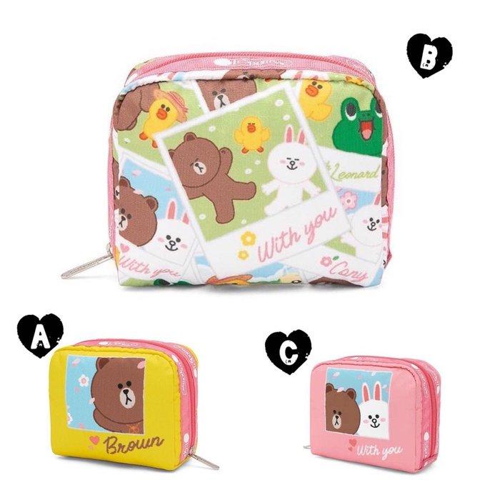 ♥ 小花日韓雜貨 ♥ --特價 Lesportsac 6701 粉色兔兔款化妝包零錢包