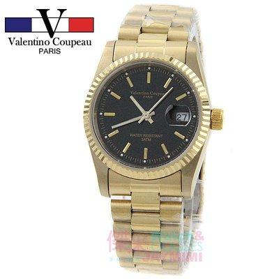 【JAYMIMI傑米】Valentino范倫鐵諾古柏不鏽鋼腕錶-日本機芯保證防水錶 金色蠔式簡單刻度國民錶 對錶