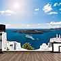 客製化壁貼 店面保障 編號F-168 希臘愛琴海 壁紙 牆貼 牆紙 壁畫 星瑞 shing ruei