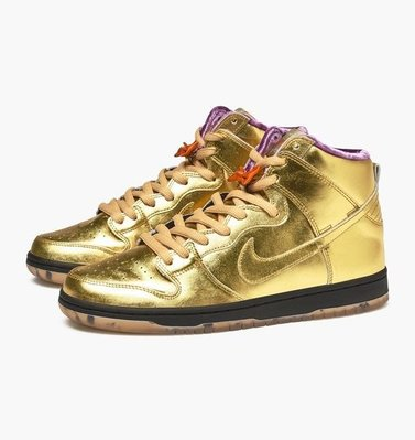 Nike x Humidity SB Dunk High QS Trumpet Metallic Gold Men US8.5