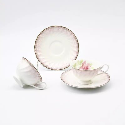 日本NARUMI鳴海Idyllic Poem雙人茶杯碟套裝骨瓷