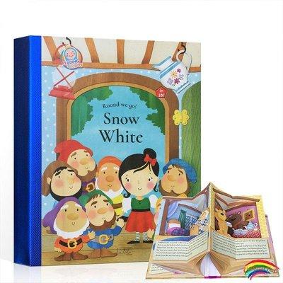 點讀版英文原版 Snow White 白雪公主童話故事 360°立體書麥芽 小達人點讀 世界經典童話故事翻翻書小達人點讀書趣味互動立體場景