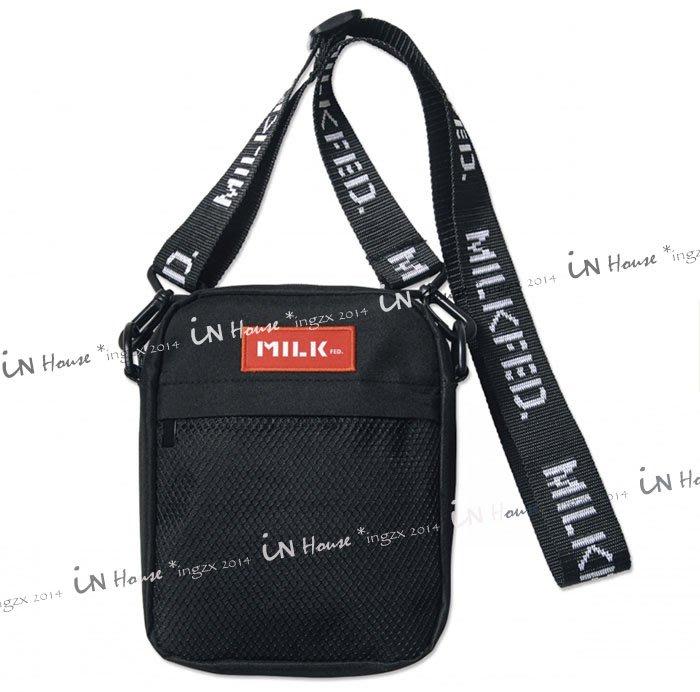 IN House* 日本 Mini 雜誌 附錄 潮牌 MILKFED 男女休閒 手機 收納 運動 斜背包 單肩包 側背包