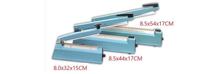 AC110V手壓式瞬熱封口機 機械尺寸(寬 長 高):8.5*54*17公分