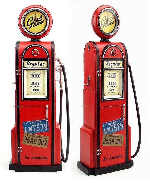 尼克卡樂斯~復古做舊美式加油機收納櫃 模型擺飾 餐廳服飾店咖啡廳裝飾 店面櫥窗道具擺飾