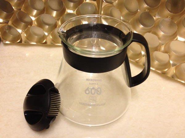 專業型玻璃壺600CC-咖啡壺/花茶壺台灣製造~*喜朵飲品專業批發館~