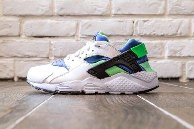 【超級特價】 NIKE Huarache Run GS 白 藍 綠 女鞋 慢跑鞋  654275300