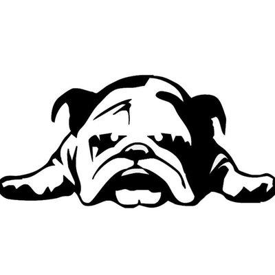【木馬人汽車】外貿English Bulldog Tired Puppy Dog車貼 英國累的小狗狗車貼【Twenty Mille】