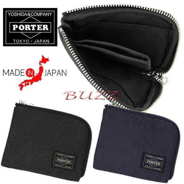 巴斯 日標PORTER-黑色 藍色現貨 PORTER SMOKY 輕便型皮夾-短夾 592-09990