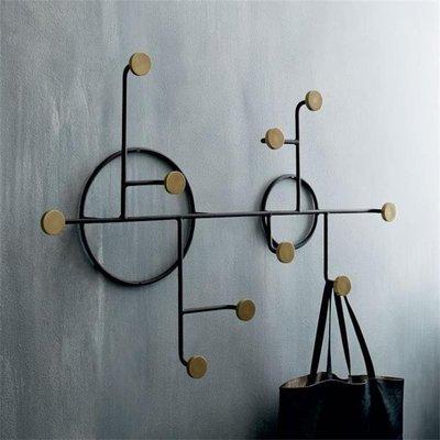 創意鐵藝墻上衣服掛鉤飾品壁掛架包包鑰匙掛鉤免打孔裝飾衣帽鉤HD