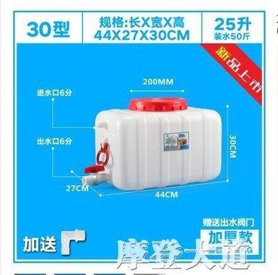 加厚大號塑料臥式水桶蓄水塔大容量儲水箱噸桶200L升0.5/1/2/3噸QM