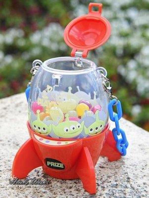 Ariel's Wish日本東京迪士尼玩具總動員皮克斯三眼怪夾娃娃機火箭筒糖果盒糖果罐小物包包收納吊飾掛飾收納盒組絕版品