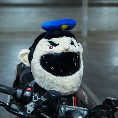 【丹】A_Moto Loot Helmet Cover 安全帽套 芝麻街 警察杯杯