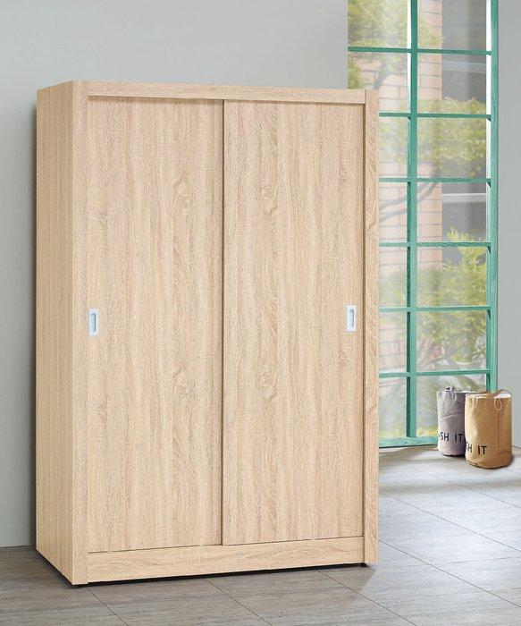 【南洋風休閒傢俱】精選時尚衣櫥 衣櫃 置物櫃 拉門櫃 造型櫃設計櫃-原橡4*7推門衣櫥 CY157-2547