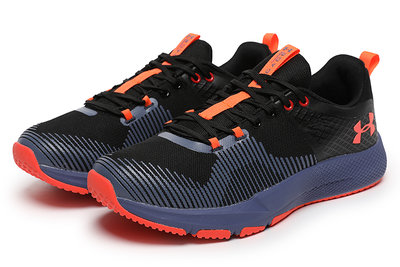 兩雙免運 正品安德瑪 UA Charged Engage 男款緩震訓練運動跑步鞋黑藍橘紅 40---46碼