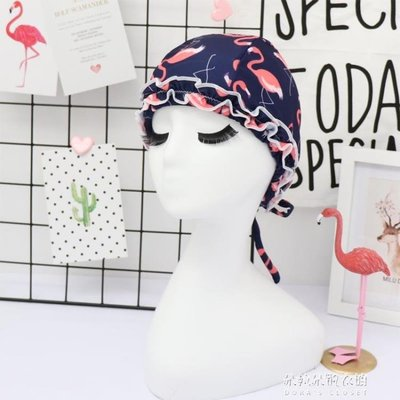 泳帽女長發時尚可愛成人女士護耳寬鬆不勒頭火烈鳥溫泉游泳帽