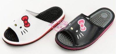 小花花日本精品♥ Hello Kitty白色經典大臉健康按摩拖鞋 室內拖鞋 按摩拖鞋居家拖鞋 918151