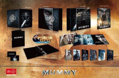 毛毛小舖--藍光BD 神鬼傳奇 3D+2D 幻彩盒限量鐵盒版(中文字幕) The Mummy(2017) 湯姆克魯斯