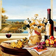 歐美式葡萄酒餐廳紅酒掛畫裝飾畫畫心畫布客廳壁畫